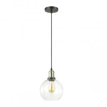 Подвесной светильник Lumion Suspentioni Kit 3684/1, 1xE27x60W, черный, бронза, прозрачный, металл, стекло - миниатюра 2
