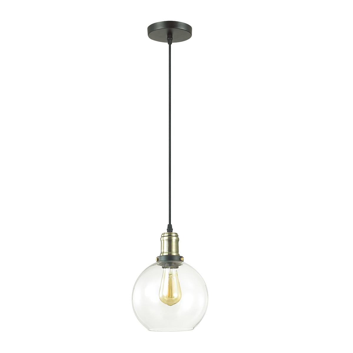 Подвесной светильник Lumion Suspentioni Kit 3684/1, 1xE27x60W, черный, бронза, прозрачный, металл, стекло - фото 2