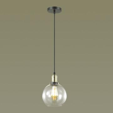 Подвесной светильник Lumion Suspentioni Kit 3684/1, 1xE27x60W, черный, бронза, прозрачный, металл, стекло - миниатюра 3