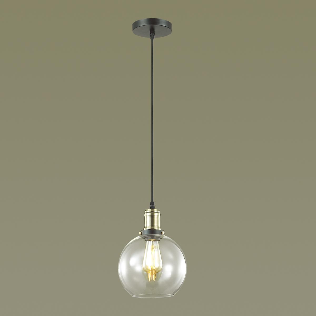 Подвесной светильник Lumion Suspentioni Kit 3684/1, 1xE27x60W, черный, бронза, прозрачный, металл, стекло - фото 3