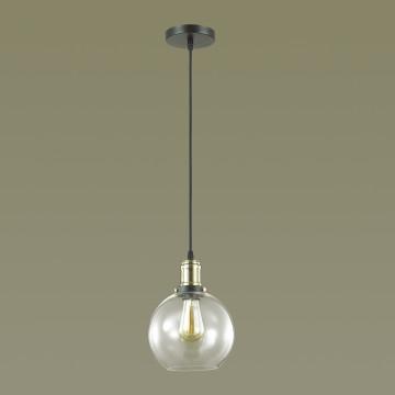 Подвесной светильник Lumion Suspentioni Kit 3684/1, 1xE27x60W, черный, бронза, прозрачный, металл, стекло - миниатюра 4