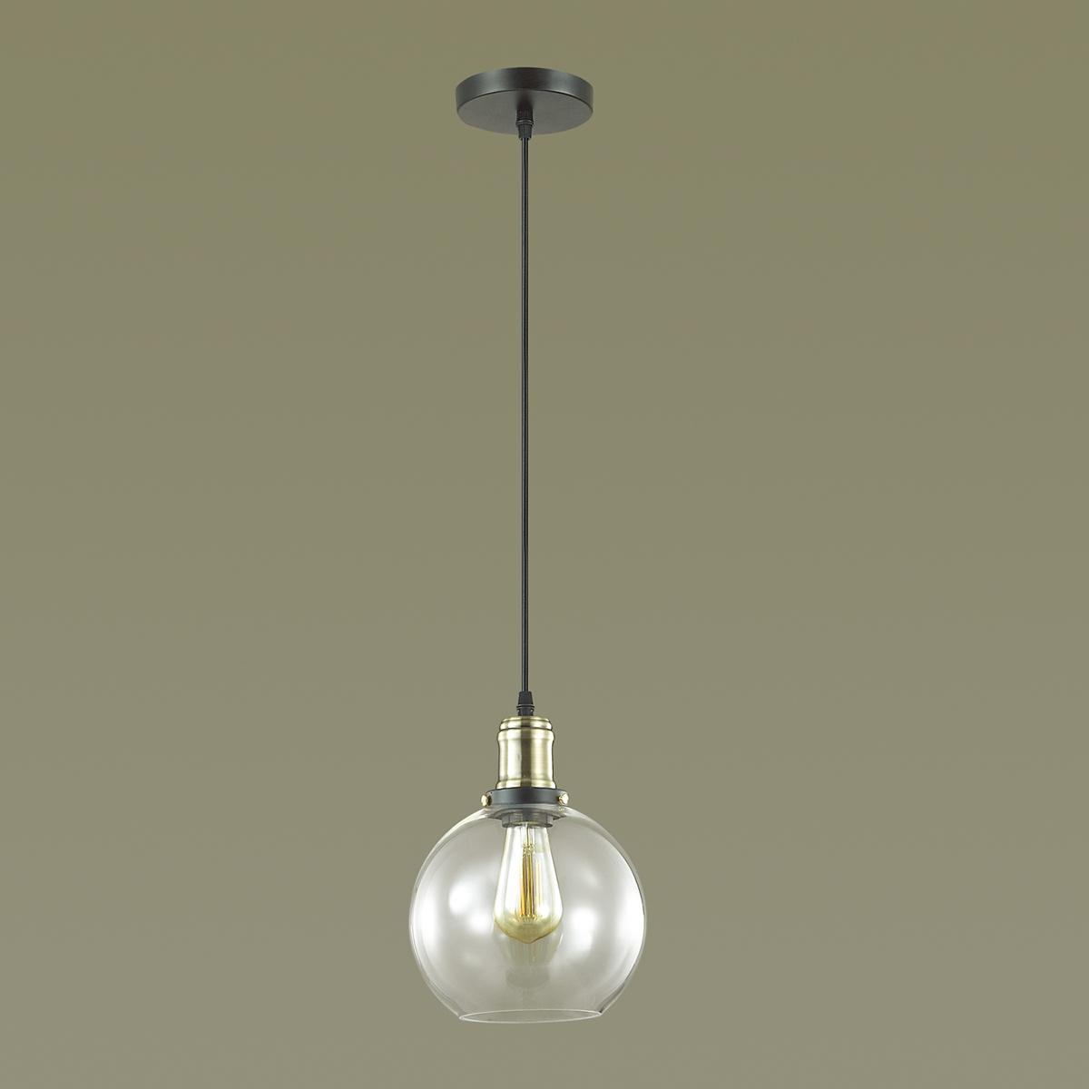Подвесной светильник Lumion Suspentioni Kit 3684/1, 1xE27x60W, черный, бронза, прозрачный, металл, стекло - фото 4