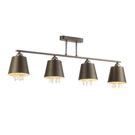 Потолочный светильник Lumion Hannah 3647/4C, 4xE27x40W, серый, хром, прозрачный, металл, хрусталь