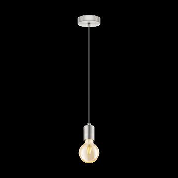 Подвесной светильник Eglo Yorth 32522, 1xE27x60W, никель, металл