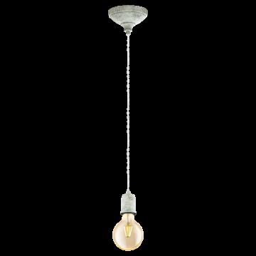 Подвесной светильник Eglo Yorth 32533, 1xE27x60W, белый, металл