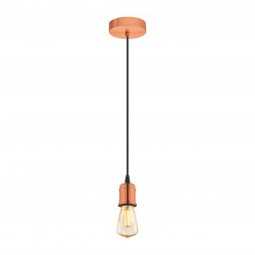 Подвесной светильник Eglo Trend & Vintage Yorth 32539, 1xE27x60W, медь, металл