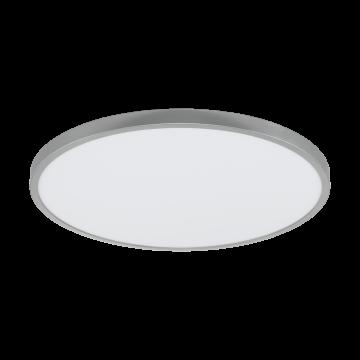 Потолочный светодиодный светильник Eglo Fueva 1 97552, LED 27W 3000K 3200lm, серебро, металл с пластиком, пластик