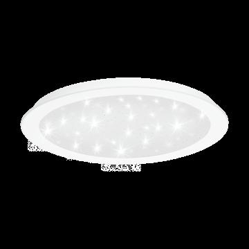 Встраиваемая светодиодная панель Eglo Fiobbo 97594, LED 21W 3000K 2500lm, белый, металл со стеклом/пластиком, пластик