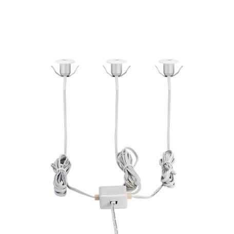 Встраиваемый настенный светодиодный светильник Eglo Chango 97079, IP44, LED 3W 3000K 80lm CRI>80, белый, металл