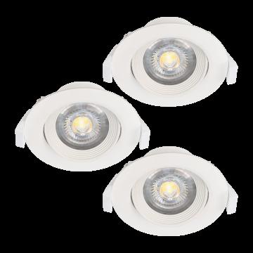Встраиваемый светодиодный светильник Eglo Sartiano 32883, LED 5W, белый, пластик
