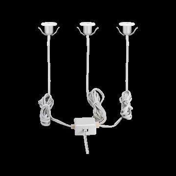 Встраиваемый настенный светодиодный светильник Eglo Chango 97079, IP44, LED 3W 3000K 80lm, белый, металл