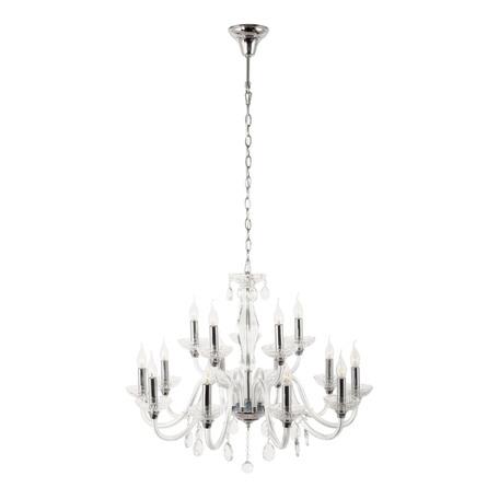 Подвесная люстра Dio D'Arte Lamponi E 1.1.15.600 N, 15xE14x40W, прозрачный, стекло, хрусталь