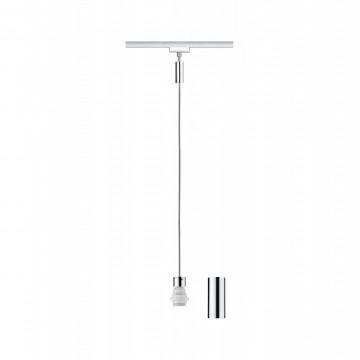 Основание подвесного светильника для шинной системы Paulmann VariLine  2Easy Basic 95512, 1xE27x20W, хром, металл