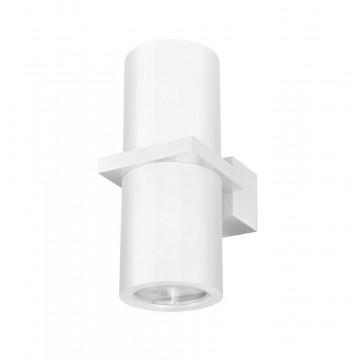 Настенный светильник Crystal Lux CLT 021W WH 1400/404, IP54, 2xGU10x35W, белый, металл