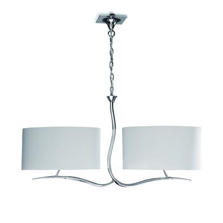 Подвесной светильник Mantra Eve 1130, хром, бежевый, металл, текстиль
