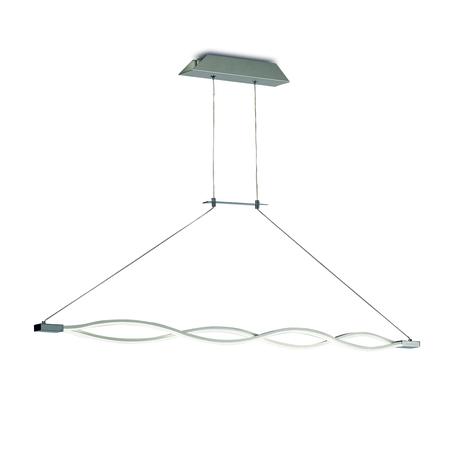 Подвесной светильник Mantra Sahara 4860, матовый хром, белый, металл, пластик