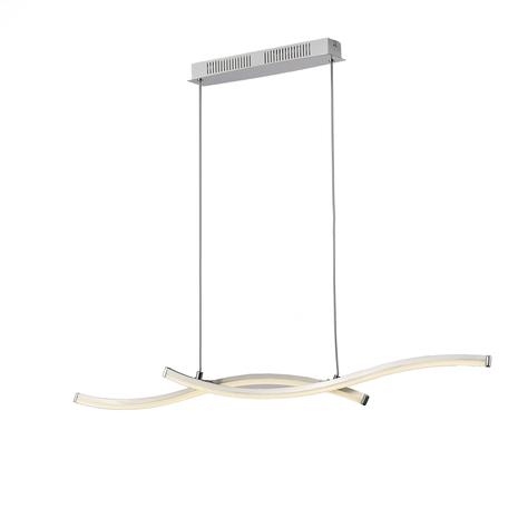 Подвесной светильник Mantra Surf 5100, никель, хром, белый с хромом, металл, пластик