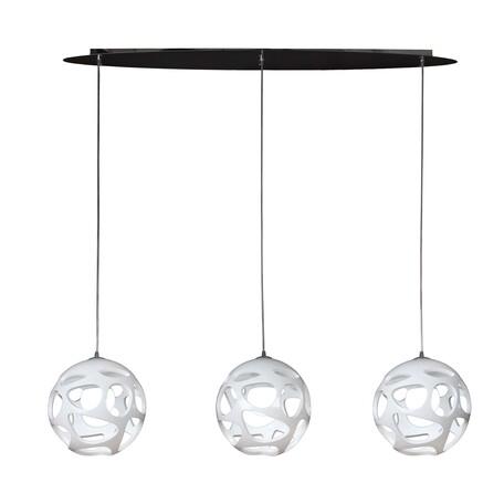 Подвесной светильник Mantra Organica 5145, хром, белый, металл, пластик