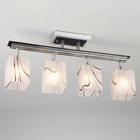 Потолочный светильник Eurosvet Leweis 3525/4 алюминий, 4xE27x60W, серебро, белый, металл, стекло