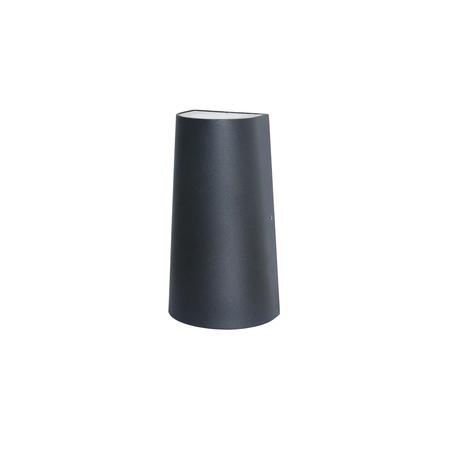 Настенный светодиодный светильник Favourite Elongatur 2682-2W, IP54, LED 6W 3000K 420lm, черный, металл