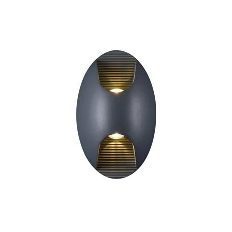 Настенный светодиодный светильник Favourite Bidirect 2685-2W, IP54, LED 6W 3000K 420lm, черный, металл