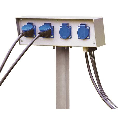 Блок розеток SLV ENERGY-PACK 227000, IP54, серый