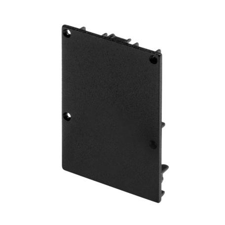 Концевая заглушка для профиля для светодиодной ленты SLV GLENOS Pro-4970 213480, черный, металл