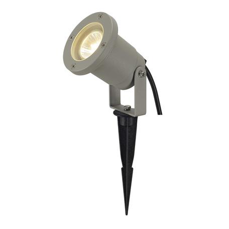 Прожектор SLV NAUTILUS 10 SPIKE 227418, IP65, 1xGU10x35W, серый, металл
