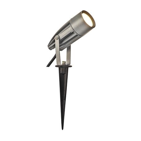 Светодиодный прожектор с колышком SLV SYNA LED 227504, IP55, LED 3000K, серый