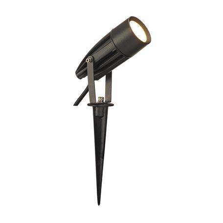 Светодиодный прожектор с колышком SLV SYNA LED 227505, IP55, LED 3000K, серый