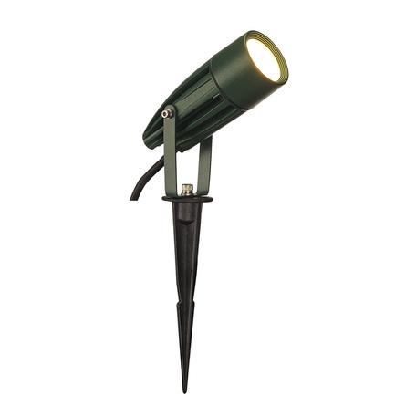 Светодиодный прожектор с колышком SLV SYNA LED 227508, IP55, LED 3000K, зеленый
