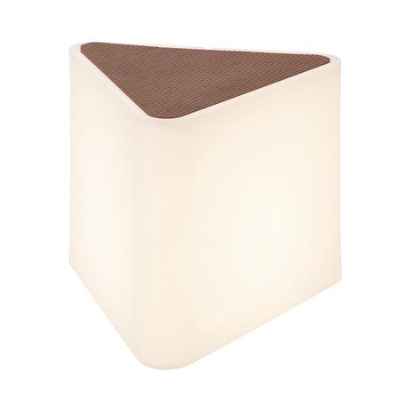 Садовый светильник-сиденье SLV KENGA 227550, IP54, 1xE27x24W, белый, коричневый, пластик