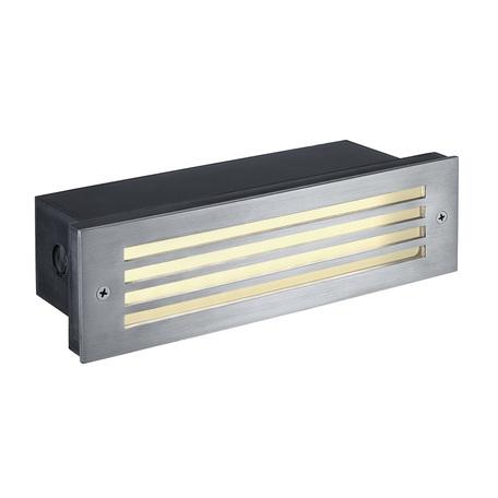 Встраиваемый настенный светодиодный светильник SLV BRICK MESH 229110, IP54, LED 3000K, сталь, металл
