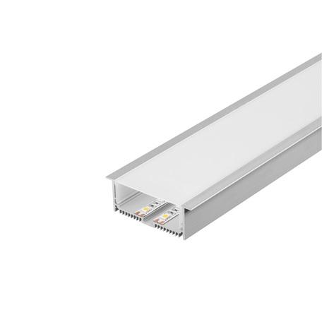 Встраиваемый профиль для светодиодной ленты с рассеивателем SLV GLENOS Pro-8832 200 213514, алюминий, белый, металл, пластик