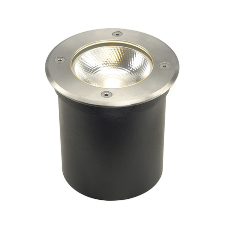Встраиваемый в уличное покрытие светодиодный светильник SLV ROCCI ROUND 227600, IP67, LED 3000K, сталь, металл