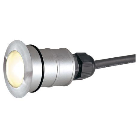 Встраиваемый в уличное покрытие светодиодный светильник SLV POWER TRAIL-LITE® ROUND 228332, IP67, LED 3000K, сталь, металл