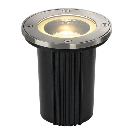 Встраиваемый в уличное покрытие светильник SLV DASAR® EXACT 116 ROUND 228430, IP67, 1xGU10x35W, сталь