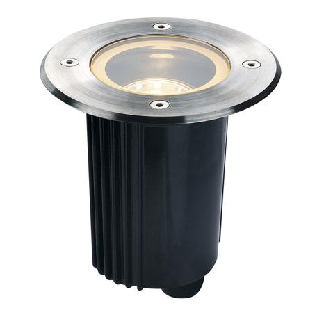 Встраиваемый в уличное покрытие светильник SLV DASAR® 115 ROUND 229320, IP67, 1xGU10x35W, сталь