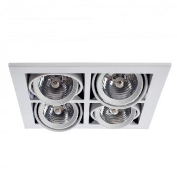 Встраиваемый светильник Arte Lamp Cardani Medio A5930PL-4WH, 4xG53AR111x50W, белый, металл