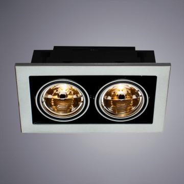 Встраиваемый светильник Arte Lamp Instyle Cardani Medio A5930PL-2SI, 2xG53AR111x50W, серебро, металл