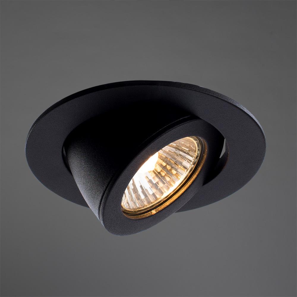 Встраиваемый светильник Arte Lamp Instyle Accento A4009PL-1BK, 1xGU10x50W, черный, металл - фото 2