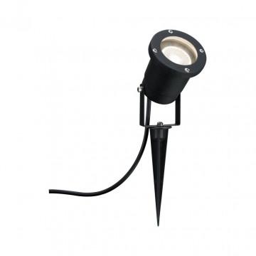 Прожектор с колышком Paulmann Line Garden Spot 98896, IP65, 1xGU10x10W, черный, металл