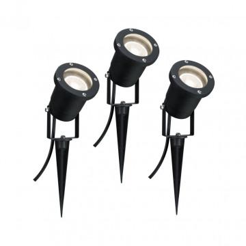 Прожектор Paulmann Line Garden Spot 98897, IP65, 1xGU10x10W, черный, металл