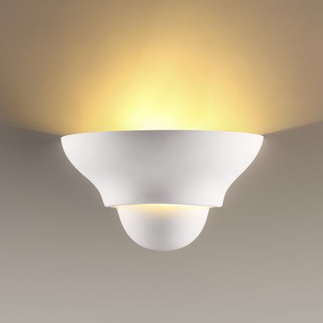 Настенный светильник Odeon Light Gips 3880/1W, 1xE14x40W, белый, под покраску, гипс