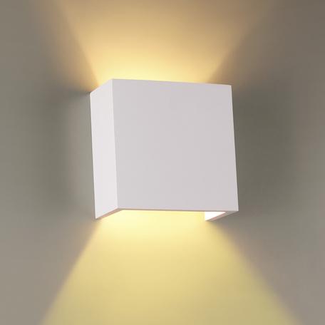 Настенный светильник Odeon Light Hightech Gips 3883/1W, 1xG9x25W, белый, под покраску, гипс