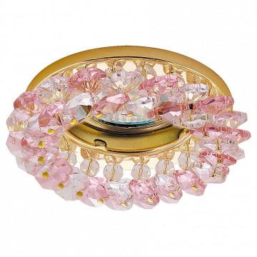 Встраиваемый светильник Lightstar 030322 Onora, золото, розовый, прозрачный