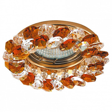 Встраиваемый светильник Lightstar 030332 Onora, золото, янтарь, прозрачный - миниатюра 1