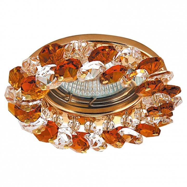 Встраиваемый светильник Lightstar 030332 Onora, золото, янтарь, прозрачный - фото 1