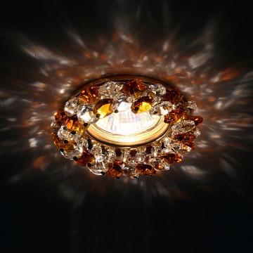 Встраиваемый светильник Lightstar 030332 Onora, золото, янтарь, прозрачный - миниатюра 2
