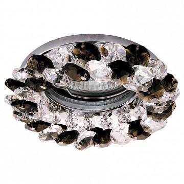 Встраиваемый светильник Lightstar 030374 Onora, хром, черный, прозрачный